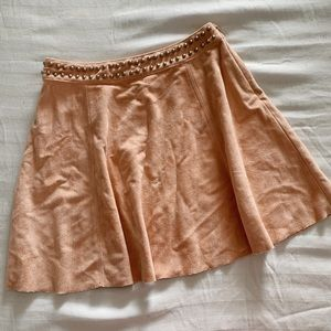 DEISGN LAB Lord & Taylor Suede Mini Skirt